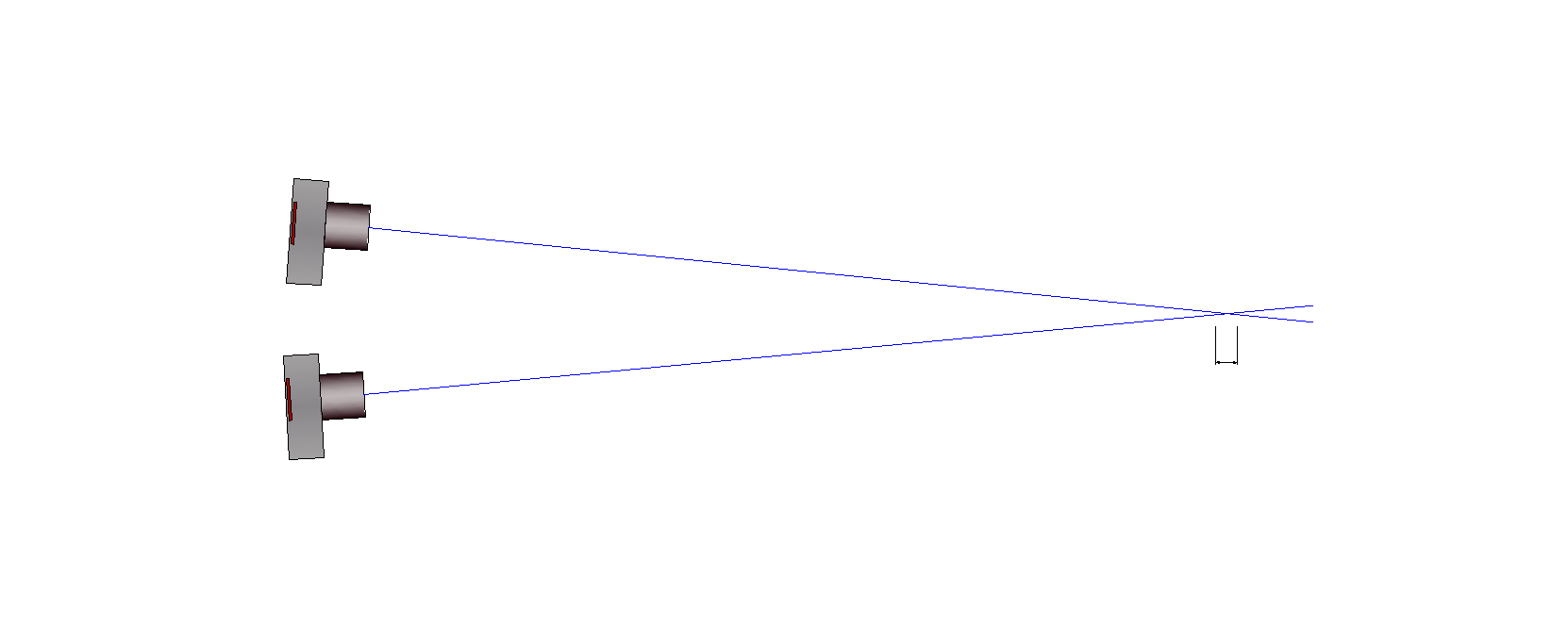 Beam intersection of two image measurements